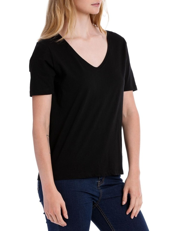 Relaxed Vee Neck Tee image 2