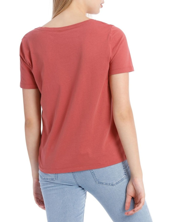 Relaxed Vee Neck Tee image 3