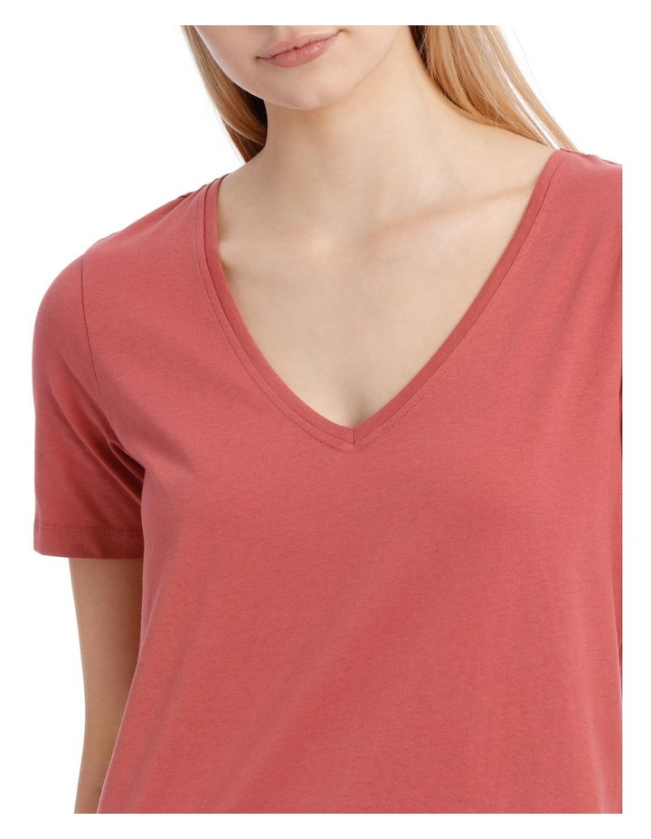 Relaxed Vee Neck Tee image 4