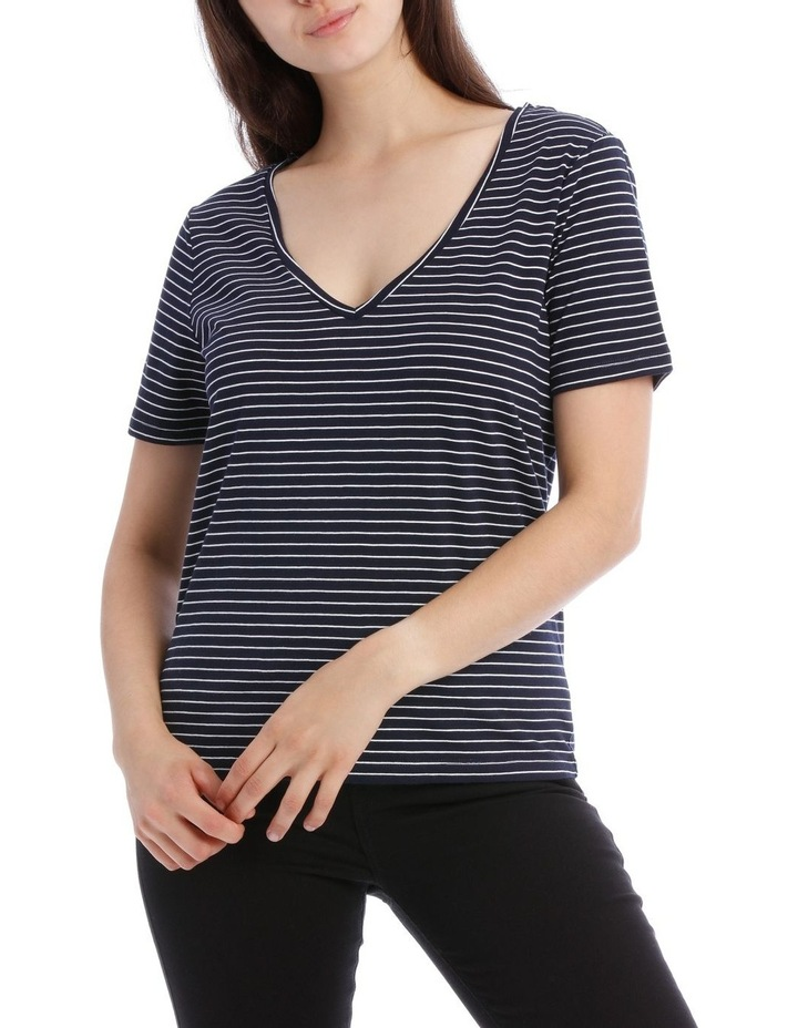 Relaxed Vee Neck Tee image 1