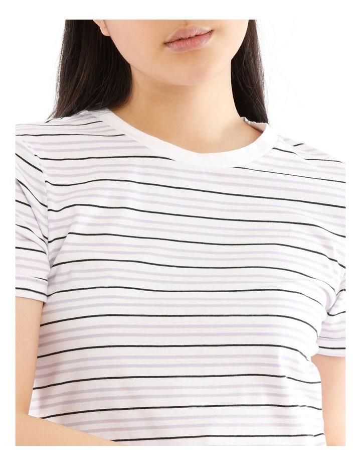 Roll Cuff Tee - Lavender Stripe image 4