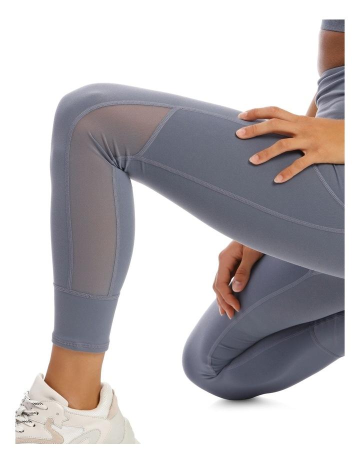 Performance Legging in Washed Indigo image 4