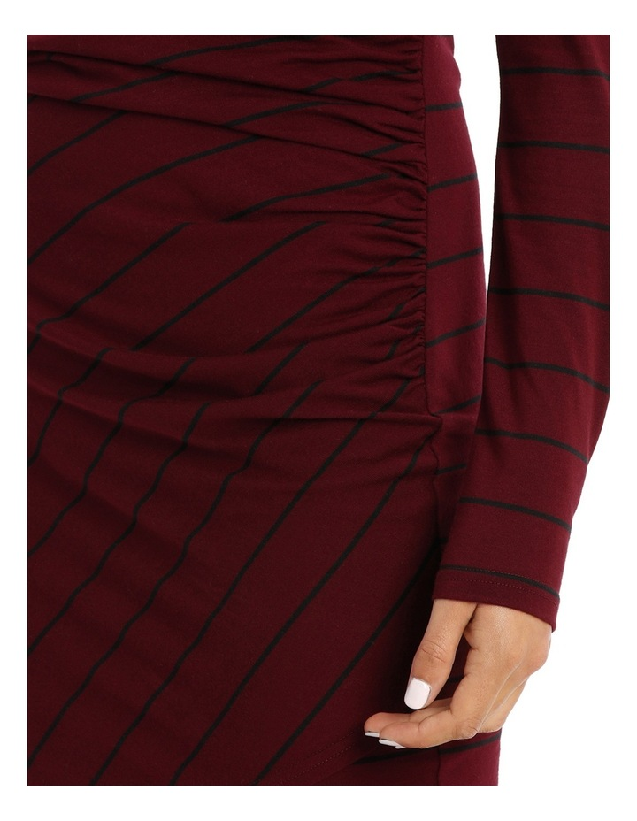 Ruched Long Sleeve Wrap Dress image 4