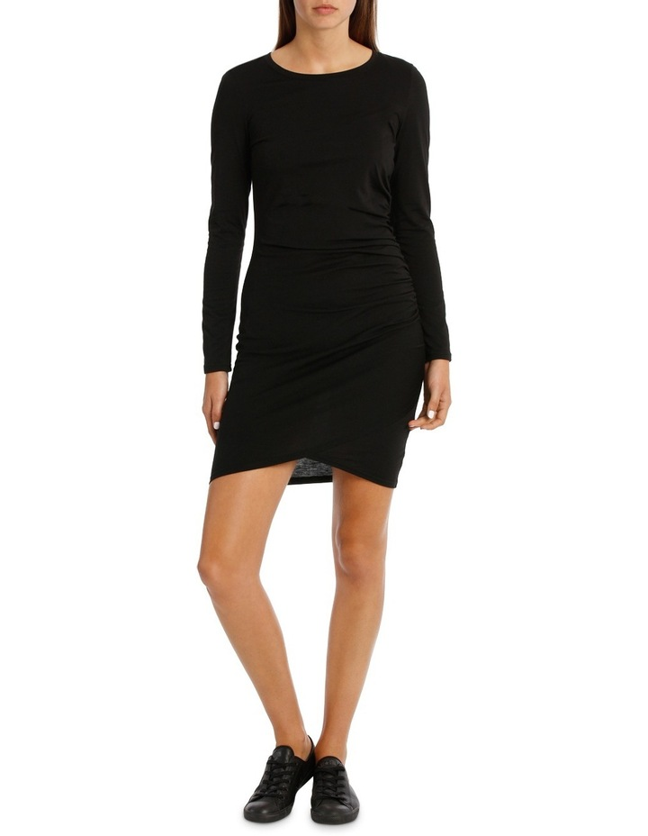 Ruched Long Sleeve Wrap Dress image 1