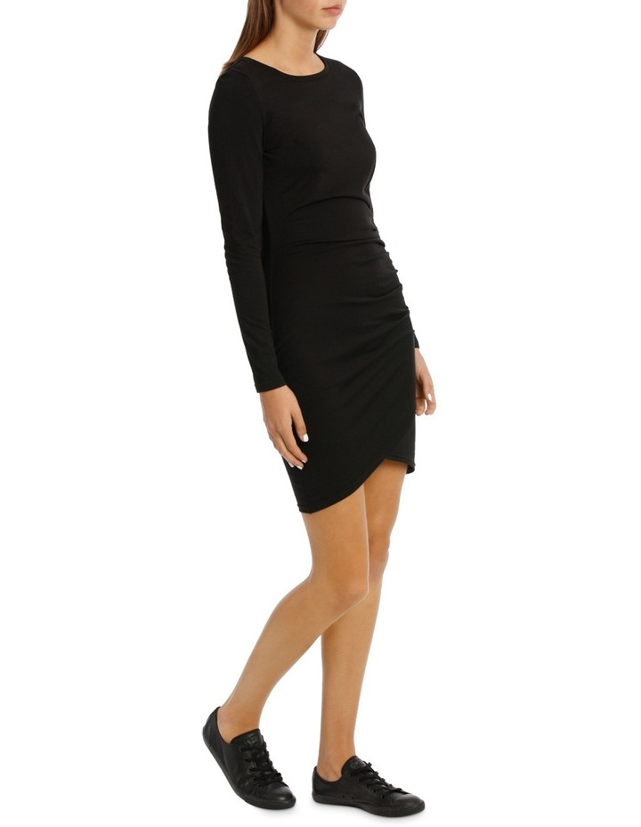Ruched Long Sleeve Wrap Dress image 2