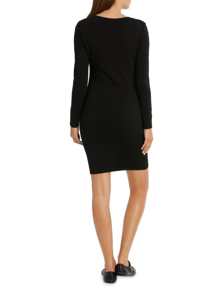 Ruched Long Sleeve Wrap Dress image 3