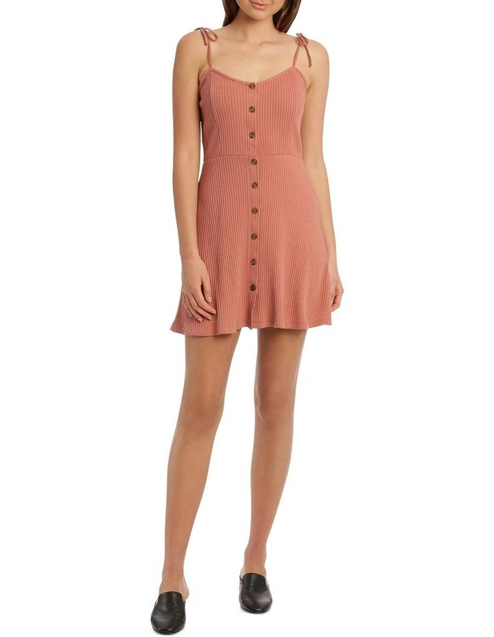 Button Front Skater Dress image 1