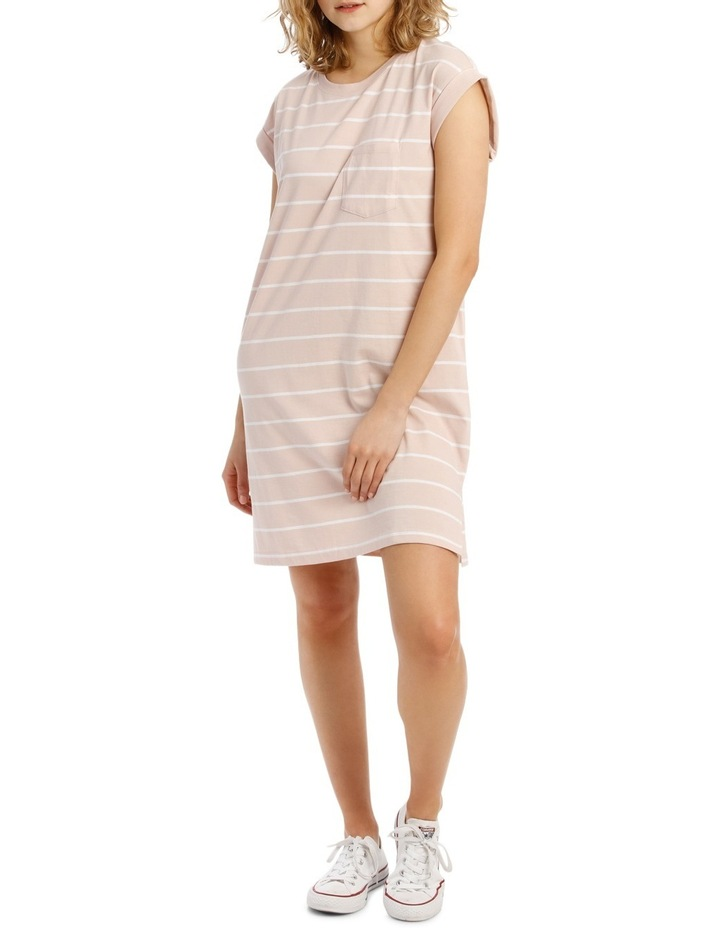 08cb9304612a Tshirt Dress - Dusty Pink White Stripe image 2