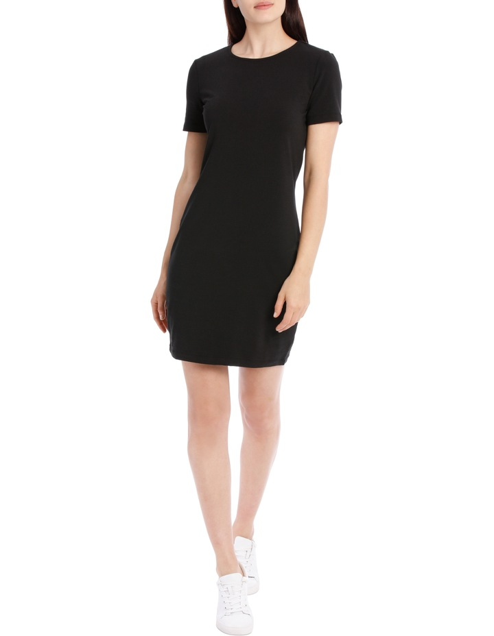 Crew Neck Short Sleeve Bodycon Dress image 1