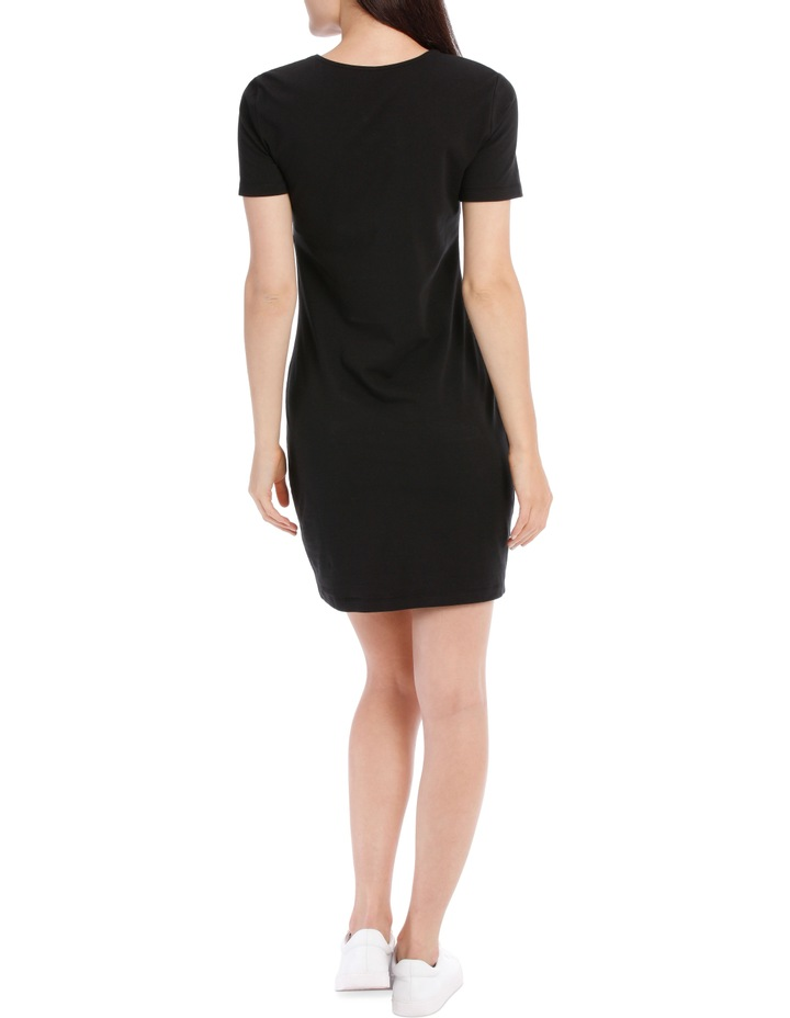 Crew Neck Short Sleeve Bodycon Dress image 3
