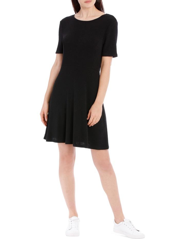 Short Sleeve Skater Rib Dress image 1