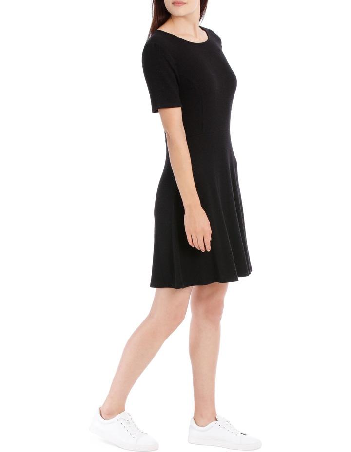 Short Sleeve Skater Rib Dress image 2