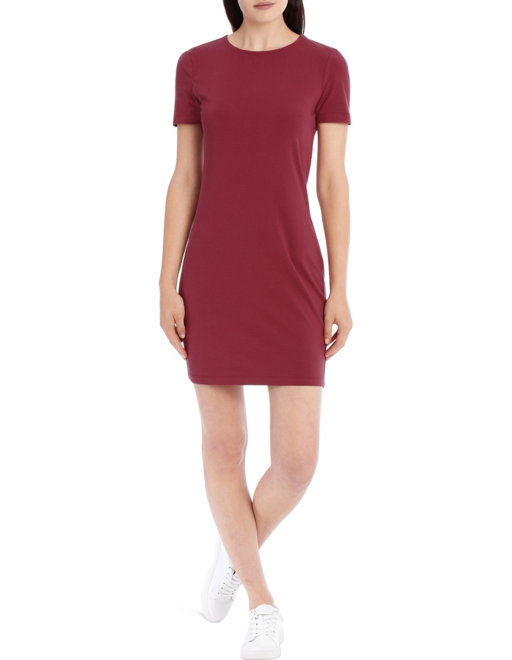 Crew Neck Short Sleeve Bodycon Dress image 1