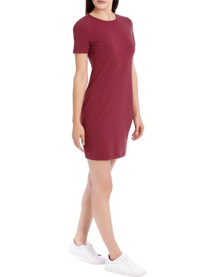 Crew Neck Short Sleeve Bodycon Dress image 2