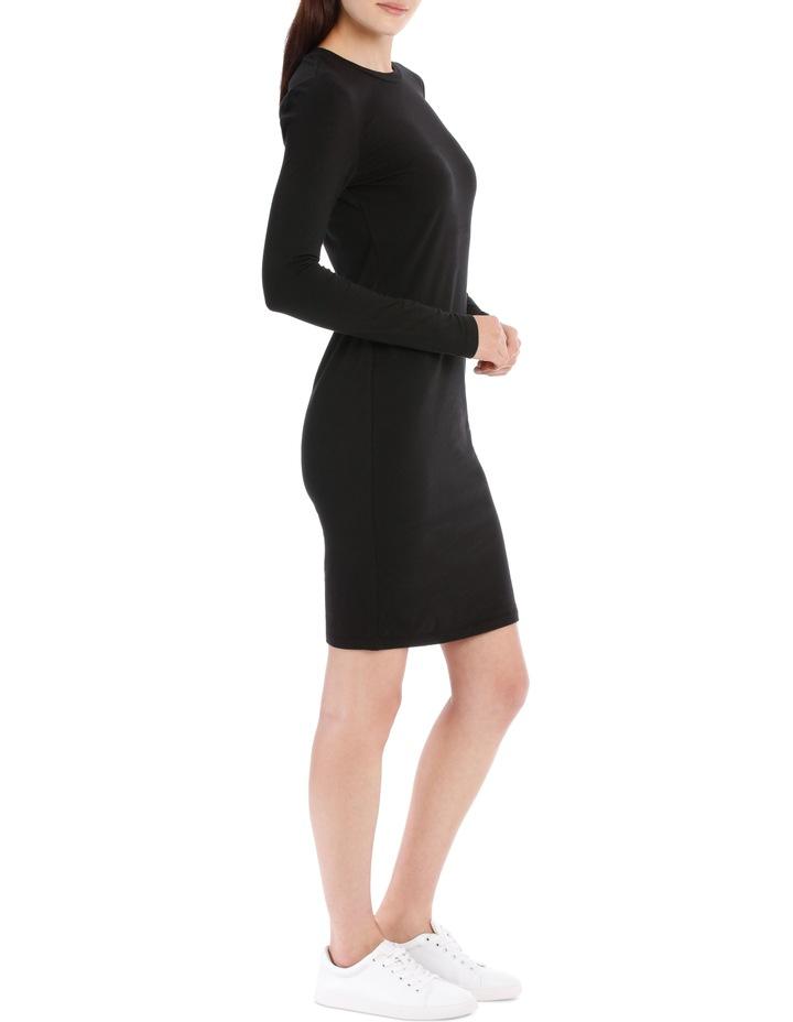 Crew Neck Long Sleeve Midi Bodycon Dress image 2
