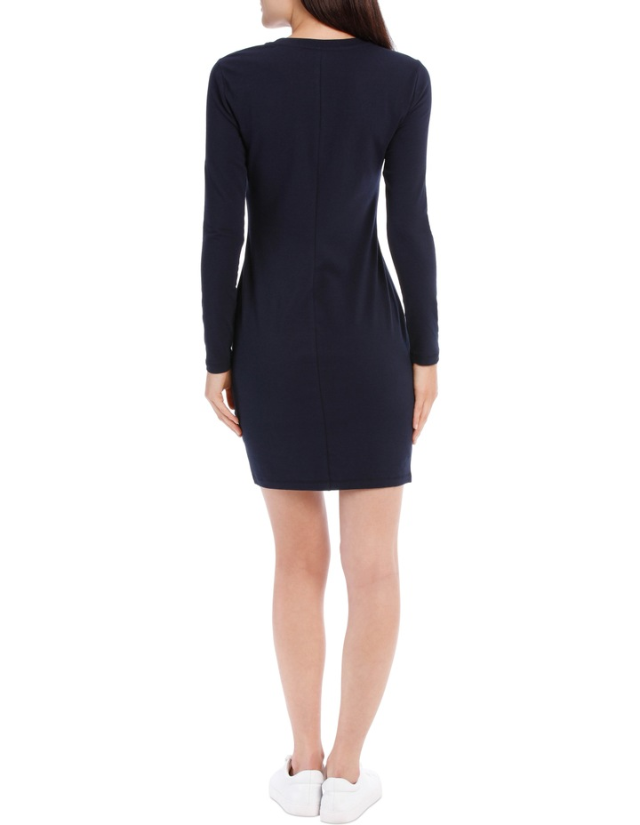 Crew Neck Long Sleeve Midi Bodycon Dress image 3