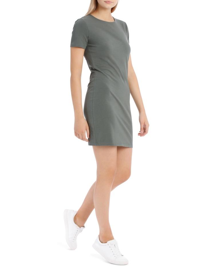 Crew Neck Short Sleeve Bodycon Dress image 2