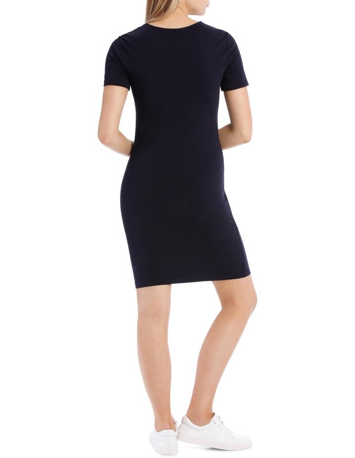 Crew Neck Short Sleeve Bodycon Dress image 3