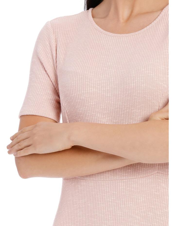 Short Sleeve Skater Rib Dress image 4