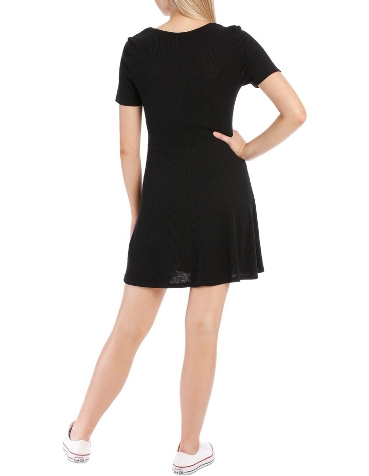 Short Sleeve Skater Rib Dress image 3