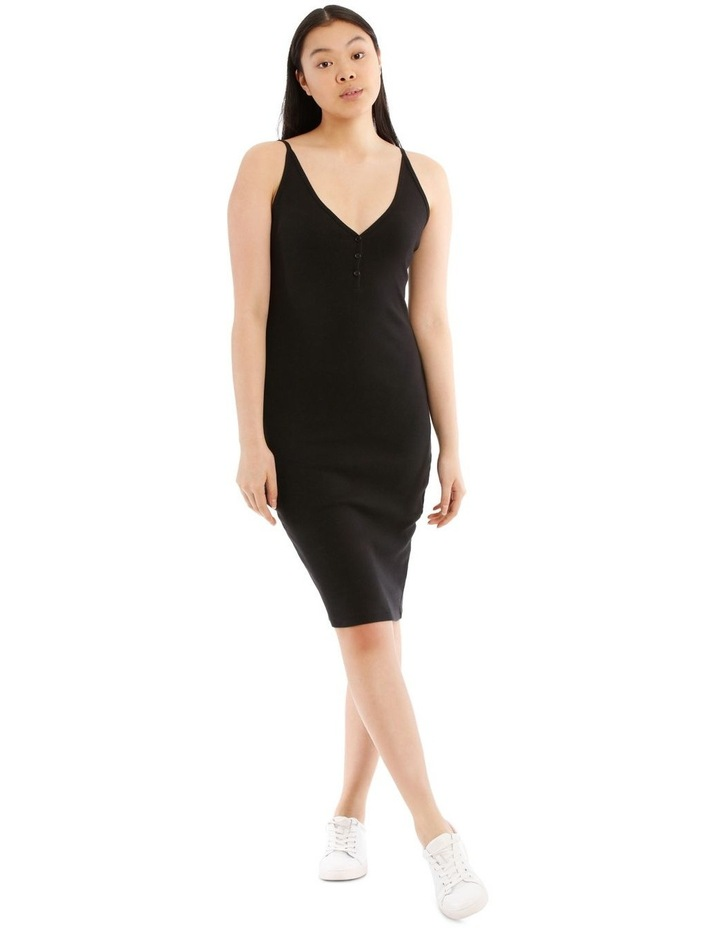 Fitted Rib Midi Dress image 1