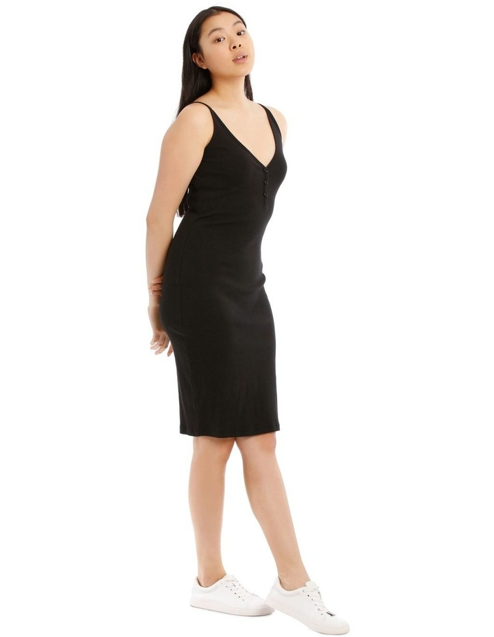 Fitted Rib Midi Dress image 2