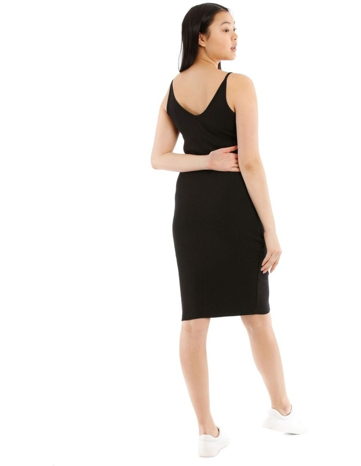 Fitted Rib Midi Dress image 3