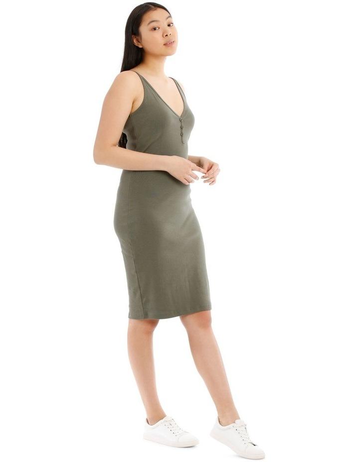 Fitted Rib Midi Dress image 2