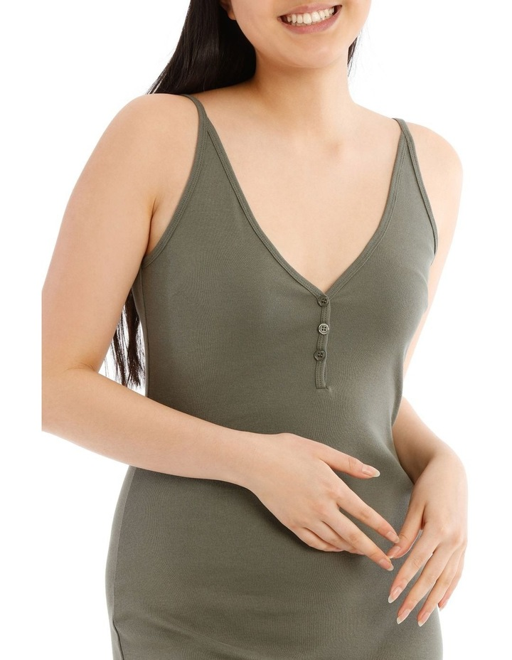 Fitted Rib Midi Dress image 4