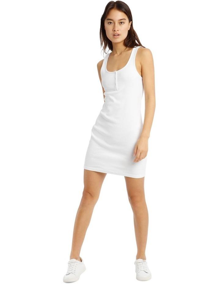Rib Tank Dress - White image 1