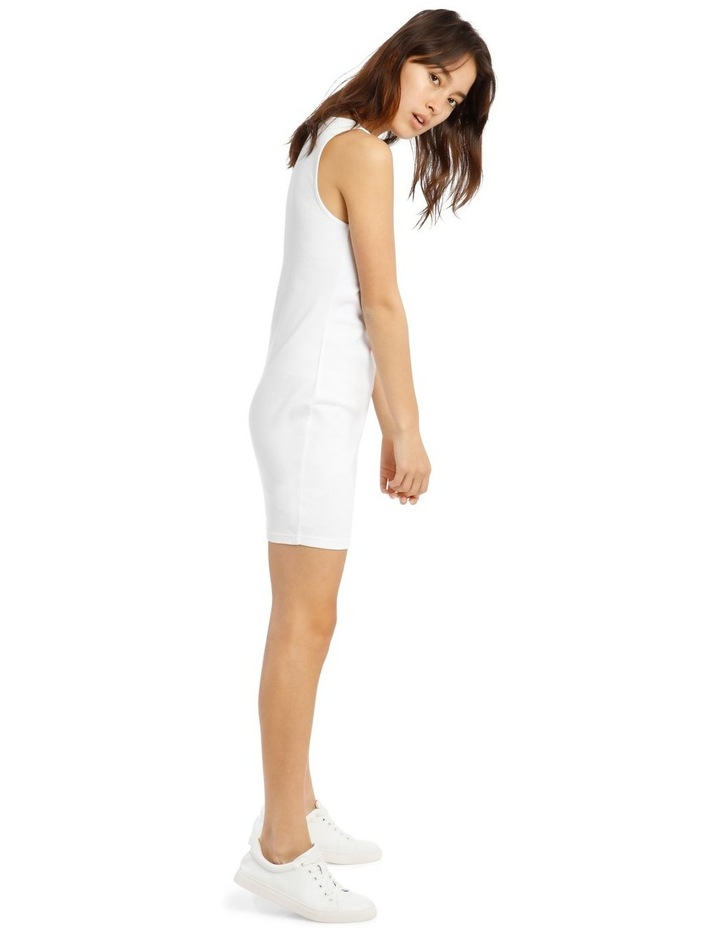 Rib Tank Dress - White image 2