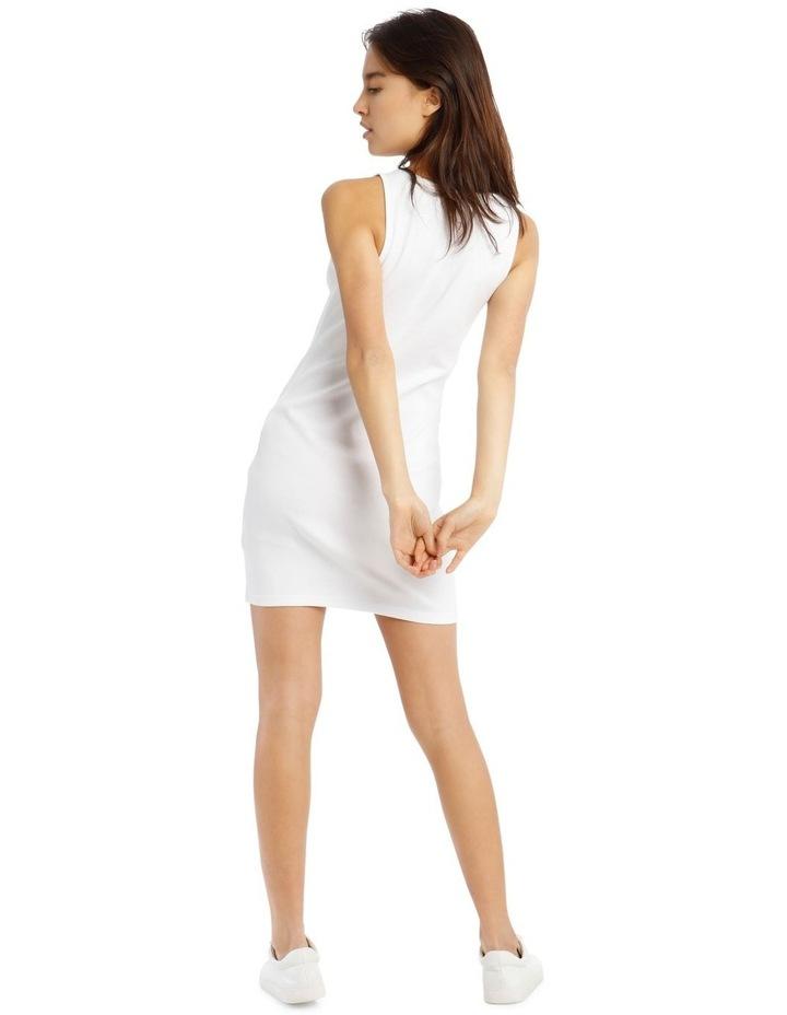 Rib Tank Dress - White image 3