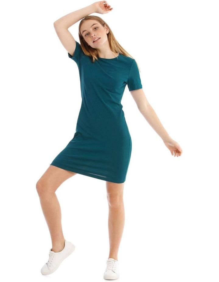 Crew Neck Short Sleeve Body-Con Dress image 1