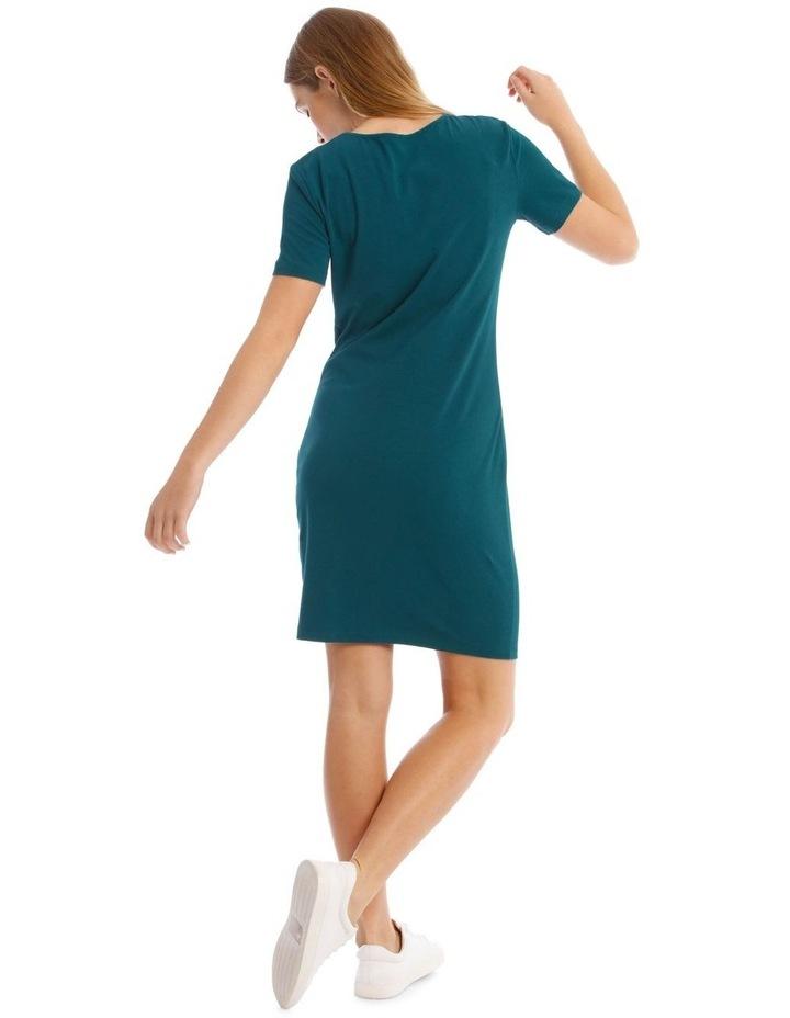 Crew Neck Short Sleeve Body-Con Dress image 3