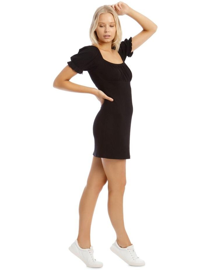 Puff Sleeve Rib Dress image 2
