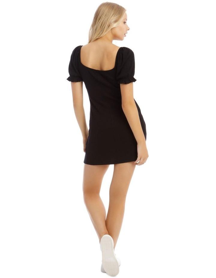 Puff Sleeve Rib Dress image 3