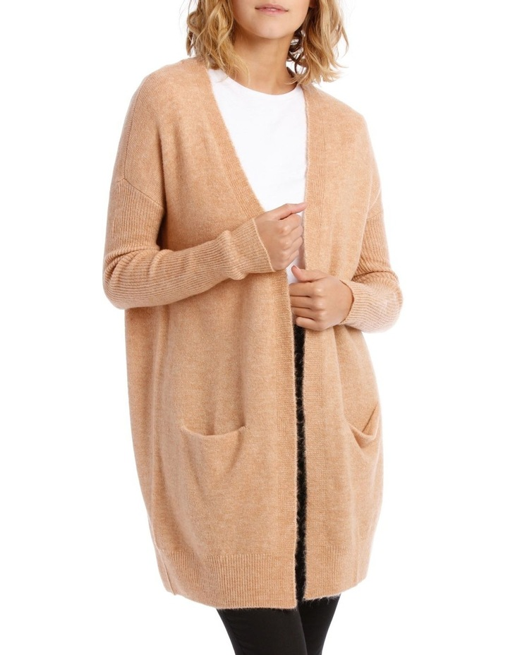 Longline Rib Sleeve Cardigan image 1