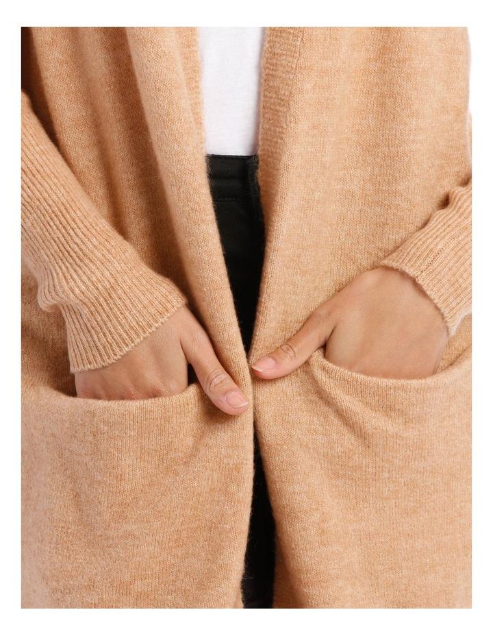 Longline Rib Sleeve Cardigan image 4