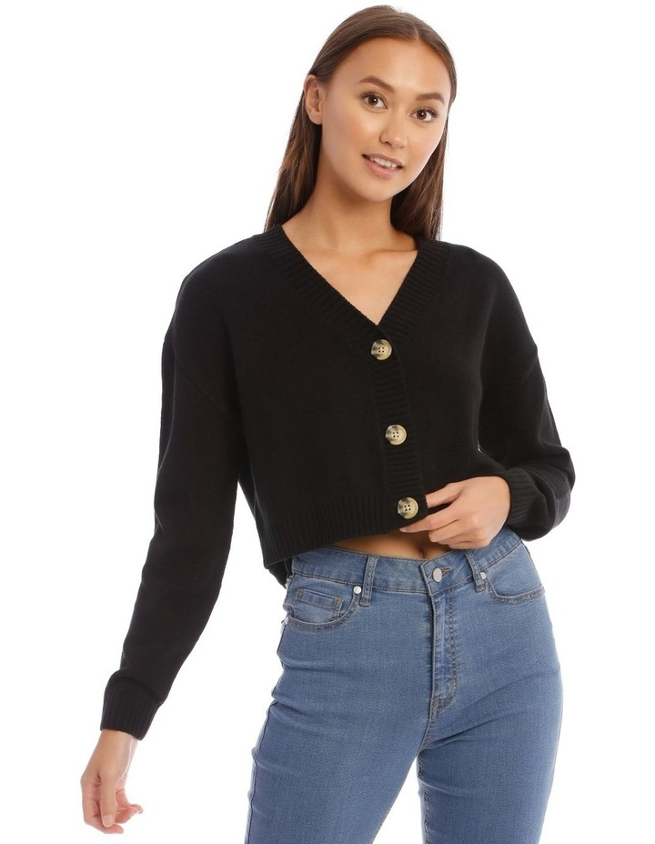3 Button Cropped Cardigan image 1