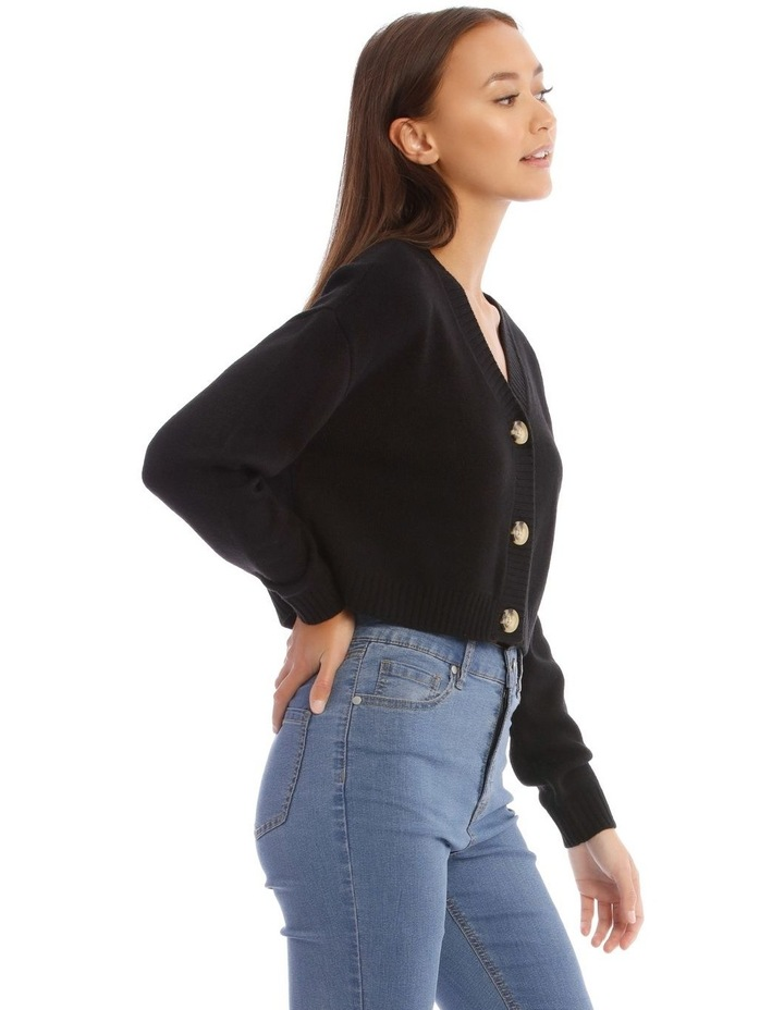 3 Button Cropped Cardigan image 2