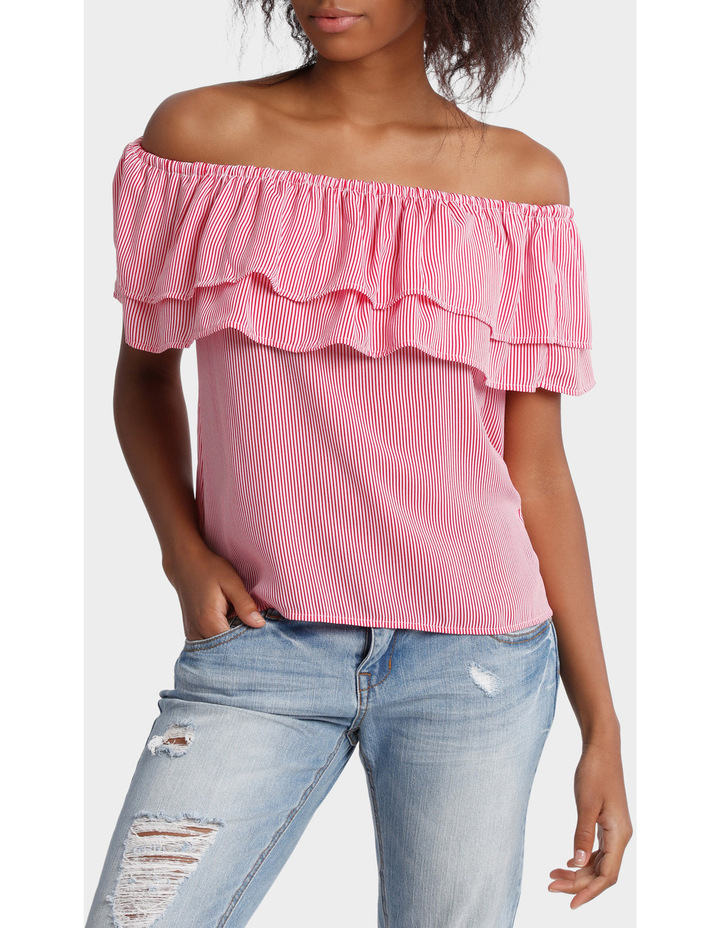 Double Ruffle Off Shoulder Top image 1