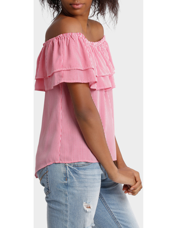 Double Ruffle Off Shoulder Top image 2