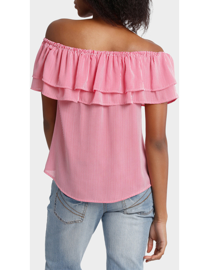 Double Ruffle Off Shoulder Top image 3