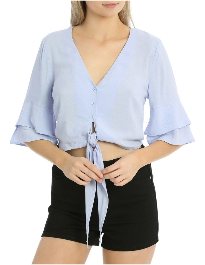 Tie Front Button Shirt image 1