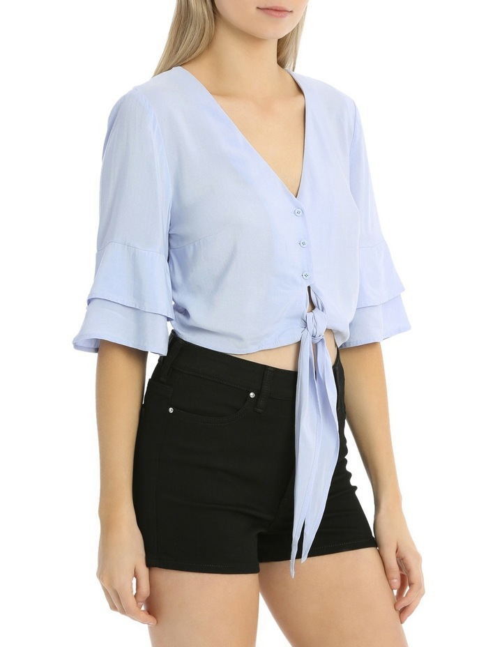 Tie Front Button Shirt image 2
