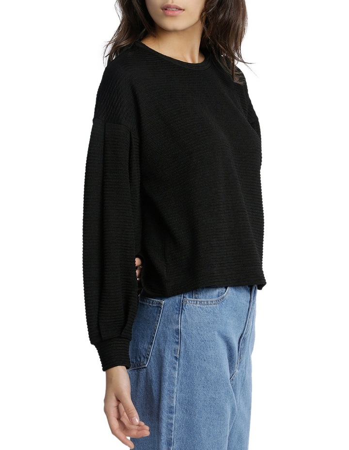 Textured Knit Blouson Sleeve Top MSCW18207. image 2