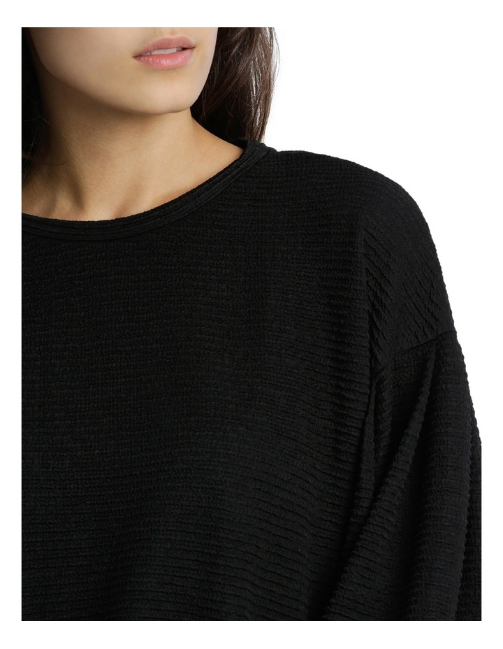 Textured Knit Blouson Sleeve Top MSCW18207. image 4