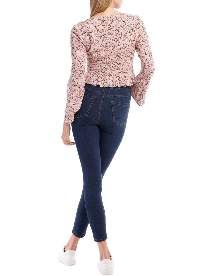 Ruched Front Flare Sleeve Top image 3