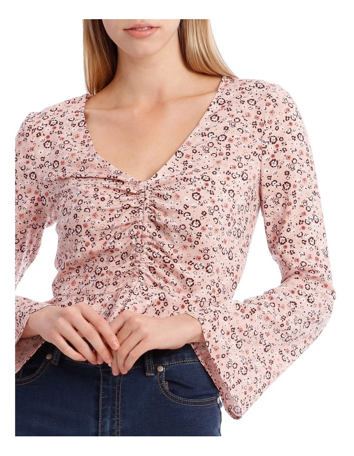 Ruched Front Flare Sleeve Top image 4
