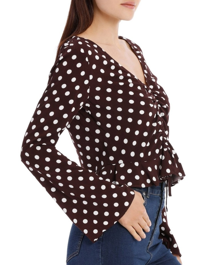 Ruched Front Flare Sleeve Top image 2